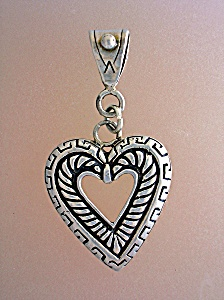 Sterling Silver Heart Pendant Marked Liberty (Image1)