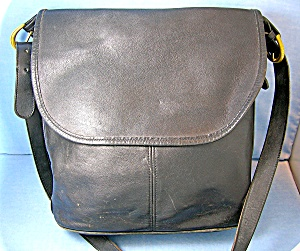 Coach Leather Black Flap Bucket Shoulder Bag