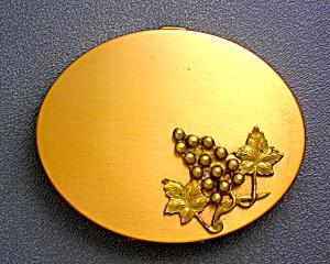 Gold Grape Motif Powder Compact (Image1)