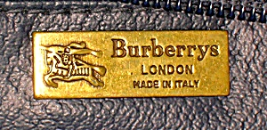 Burberrys Of London  Green Red Navy Dr Bag (Image1)