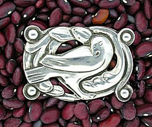 CORO Sterling Silver Norseland Design Bird Brooch (Image1)