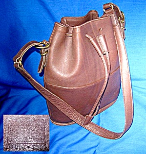 Coach Bucket Bag Tan Leather Drawstring