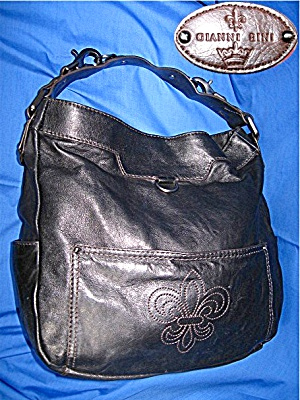 Gianni Bernini Black Leather Hand Bag
