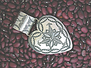 Sterling Silver HEART Pendant Signed VJP for Rocki (Image1)