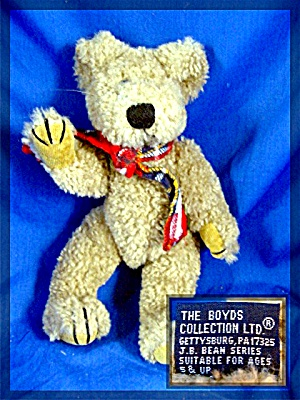 8 inch Boyds Bear 1985 - 96 pellet filled, fully jointe (Image1)