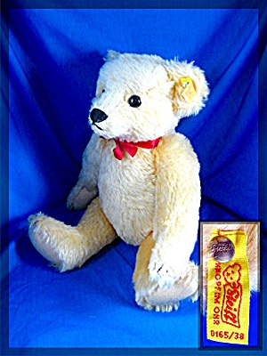 14 Inch Steiff Teddy Bear, Fully Jointed Golden