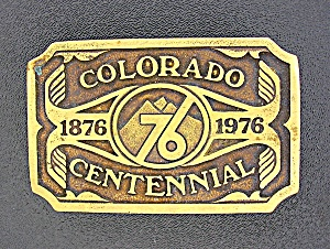 1974 Brass Colorado Bi Centennial Belt Buckle (Image1)