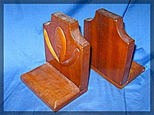 Book Ends, Hand Crafted, Wooden