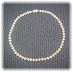 Necklace Sterling Silver Beads 6.5mm  (Image1)