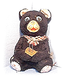Antique Tin Japanese Black Key Wind Bear (Image1)