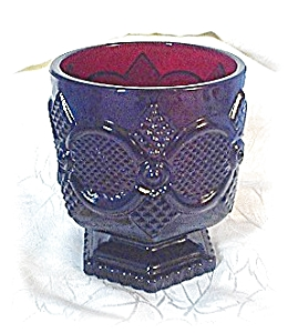 2 Deep Red Cape Cod AVON Candle Holders (Image1)