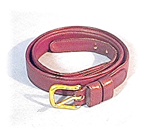 "30"" Ladies Dark Brown COACH Leather Belt (Image1)"