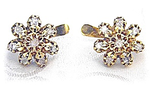 18K Gold Asian Uncut  Diamond Leverback Earrings (Image1)