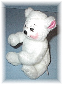 Annalee Bear 6 Inch Small White Sitting  Down (Image1)
