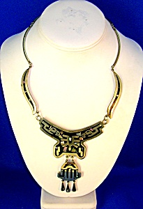 Mexican Silver And Abalone Necklace