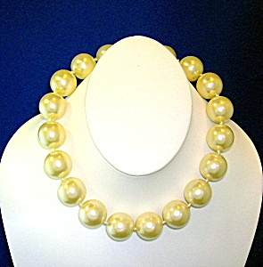 Necklace, Faux Pearls, 16 Inches 3/4 Inch Faux Pearls