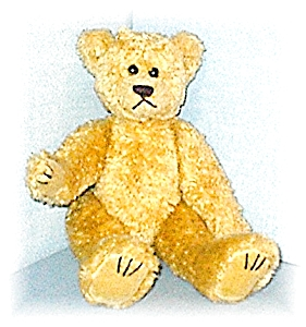 13 Inch Jointed Golden Curly TY Teddy Bear (Image1)
