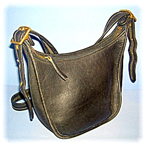 Black Coach Leather Shoulder Bag (Image1)