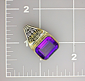 Sterling Silver Amethyst Pendant 8ct (Image1)