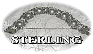 Bracelet Sterling Silver Antique Domes Links  (Image1)