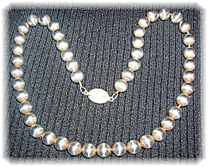 Necklace Sterling Silver 9mm Bead 18 Inch  (Image1)