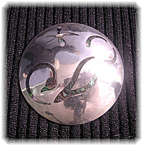 2 1/4 Inch Sterling Silver Dragon Fly Mexican Brooch (Image1)