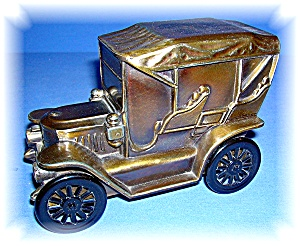 BANK - Vintage Metal Montbello Colorado Car Money Bank (Image1)