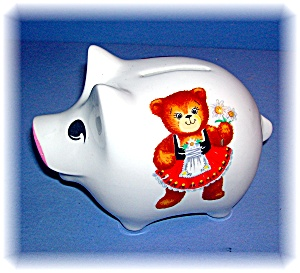 Money Bank Piggy Reutter Porzellan Germany