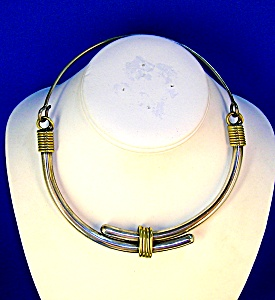 Necklace Sterling Silver  Brass Collar TE-25  Mexico (Image1)