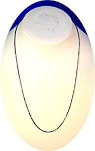 20 Inch Fine Box Link Sterling Silver Chain