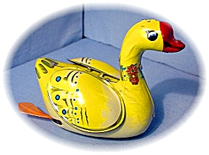 Old Tin Wind Up Duck Made In China