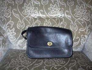 Purse Handbag Black Coach Leather  (Image1)