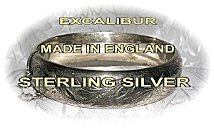 Bracelet Sterling Silver Gold Vermeil Excalibur Bangle  (Image1)