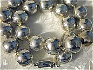 Taxco Mexico 20 Inch Sterling Silver Beads TM-101  (Image1)