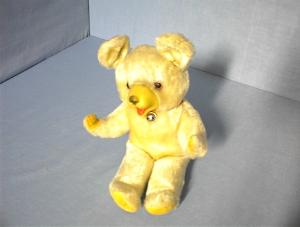 Teddy Bear Old Straw Stuffed  Made in Japan. (Image1)