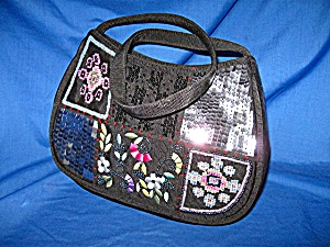 Liz Claiborne Embroidered And Sequinned Bag
