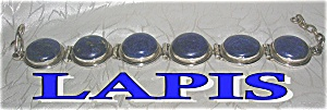 FAB Blue Lapis and Sterling Silver Bracelet. (Image1)