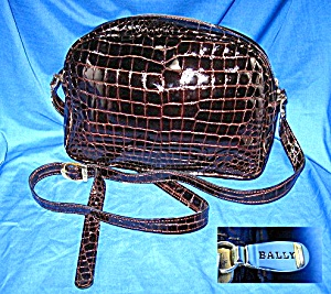 Bag BALLY Crocodile Look Leather Made Italy (Image1)