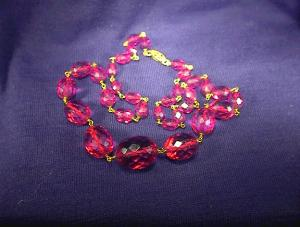 Necklace Cherry Amber Gold Chain link  20 Inch (Image1)
