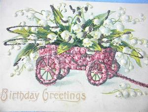 1917 Lilies of the Valley Birthday Greetings (Image1)