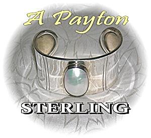 Sterling Silver & Genuin Mabe Pearl Cuff Brac (Image1)