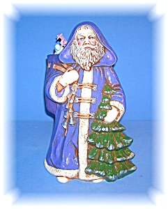 Santa Claus, Hand Painted Ceramic Hand Painted Artist S