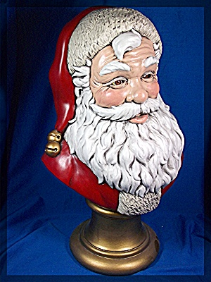 Santa Clause bust, 17 inches tall, Scioto 92, ceramic (Image1)