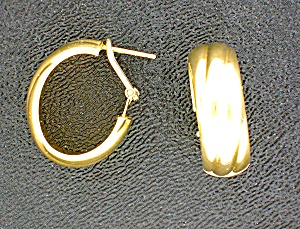 Earrings 18K Yellow Gold Hoop  Italy MILOR (Image1)