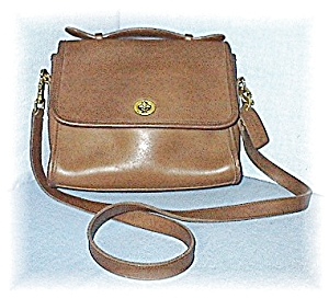 Bag Light Fawn Coach Leather Shoulder