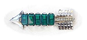 Sterling Silver Jewelled REJA Arrow Brooch (Image1)