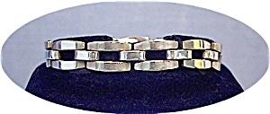 7 1/2 Inch Heavy Mexican Sterling Silver Brac (Image1)