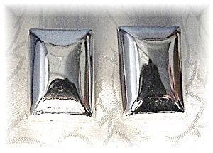 Sterling Silver Taxco Mexican Clip  Earrings (Image1)