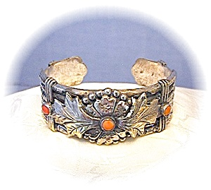 Coro Silver Coral Oriental Bamboo Bracelet (Image1)