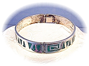 Sterling Silver Inlay Bangle Melendez Bracele